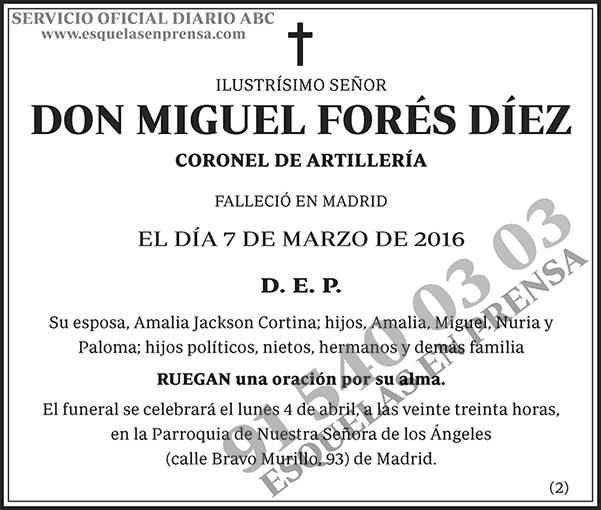 Miguel Forés Díez